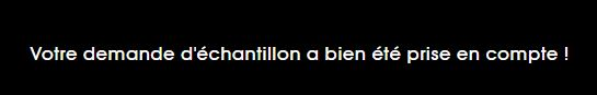 Yves Saint Laurent Pure Shots, confirmation de la demande d'échantillon
