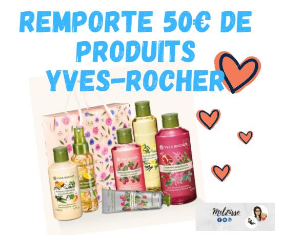 Résultat concours : 50€ de produits Yves Rocher